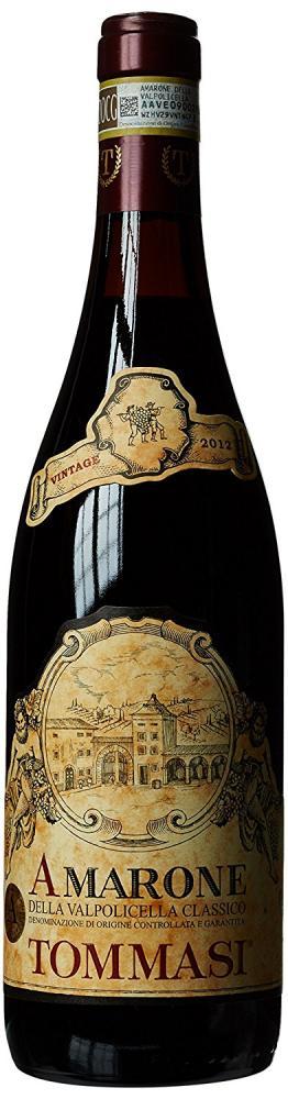 Tommasi Amarone Della Valpolicella 2012 Wine 75 cl