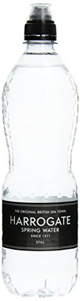 Harrogate Still Spring Water Bottle with Sports Cap 750 ml