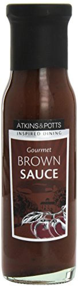 Atkins and Potts Gourmet Brown Sauce 260 g