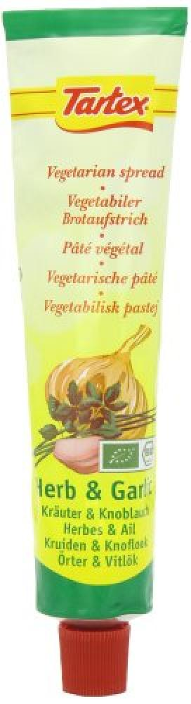 Tartex Organic Herbal and Garlic Pate Tube 200 g
