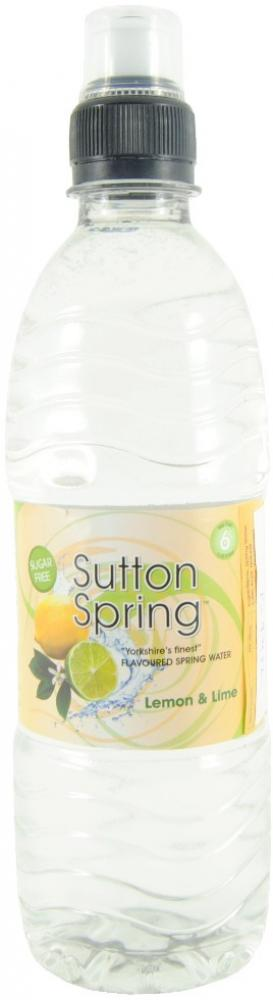 Sutton Spring Lemon and Lime Flavour Spring Water 500ml