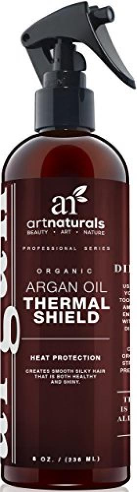 Art Naturals Thermal Hair Protector 236ml - Best Protective Spray against Flat Iron Heat - Contains 100% Organic Argan Oil Preventing Damage, Break