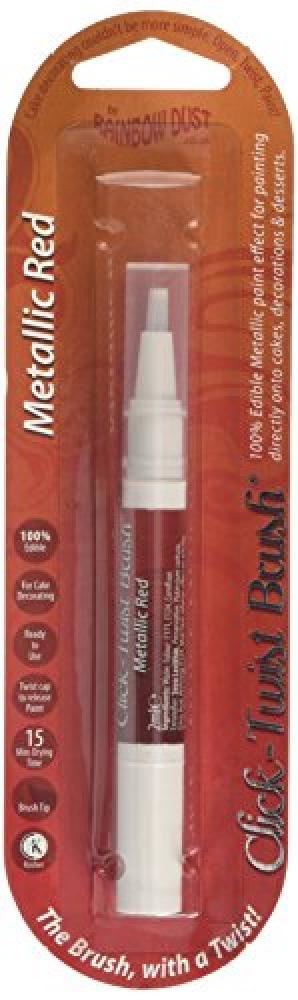 Rainbow Dust Click Twist Brush Metallic Red 2ml