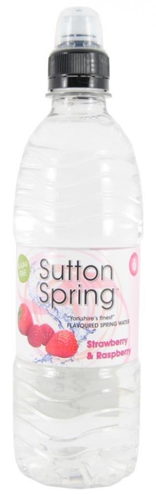 Sutton Spring Strawberry and Raspberry Flavoured Spring Water 500ml
