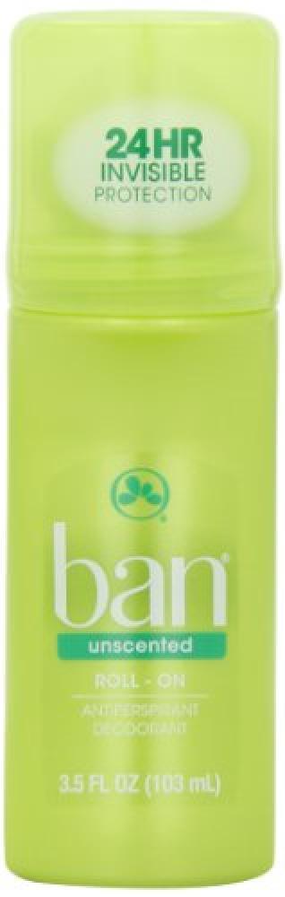 Ban Unscented Roll-on Antiperspirant Deodorant 103ml