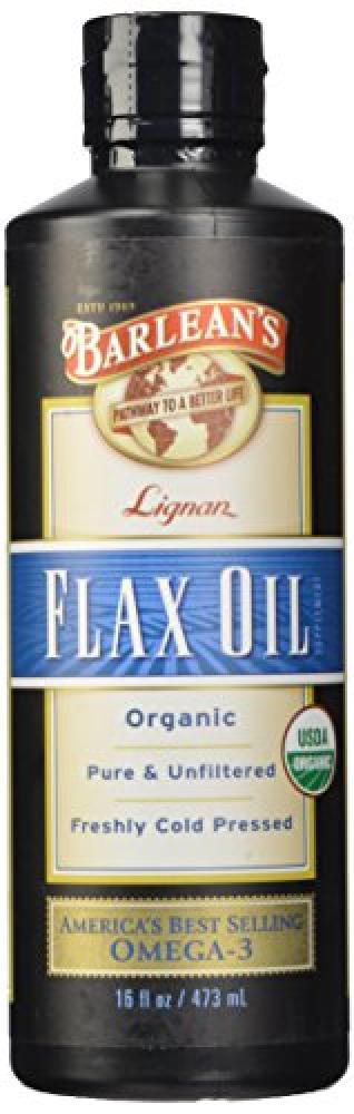 Barleans High Lignans Flax Oil Liquid 473 ml