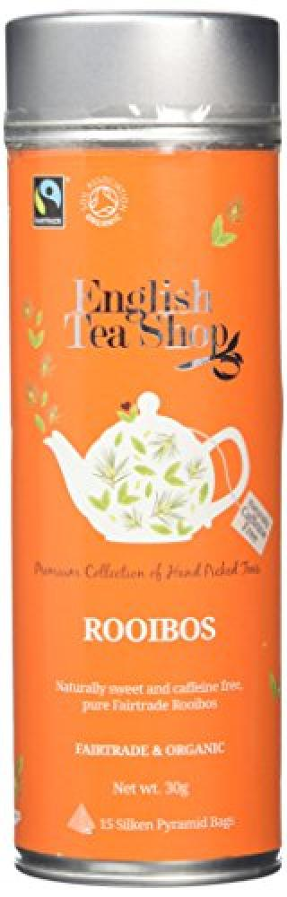 English Tea Shop Rooibos Fairtrade and Organic 15 Pyramid Tea Bags