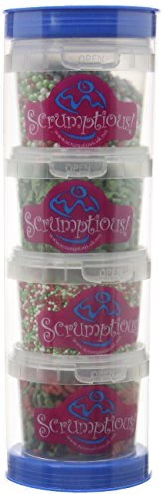 Scrumptious Sprinkles Sprinkle Caddy Christmas Red and Green 200 g