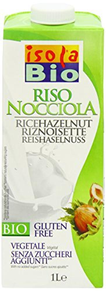 Isola Bio Rice and Hazelnut Drink 1L
