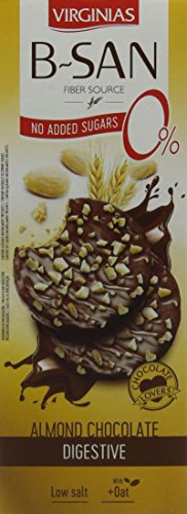Virginias No Added Sugar Milk Chocolate with Almond Biscuits 110g