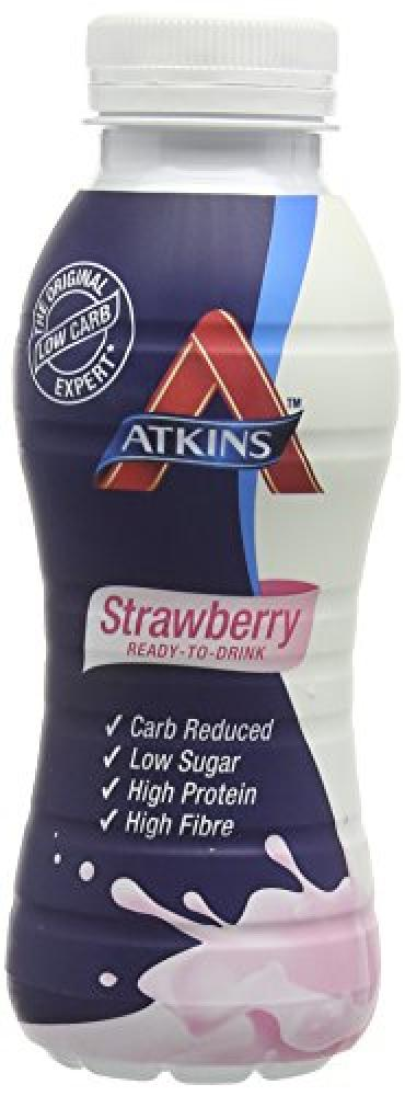 Atkins 330 ml Ready To Drink Strawberry Bottles
