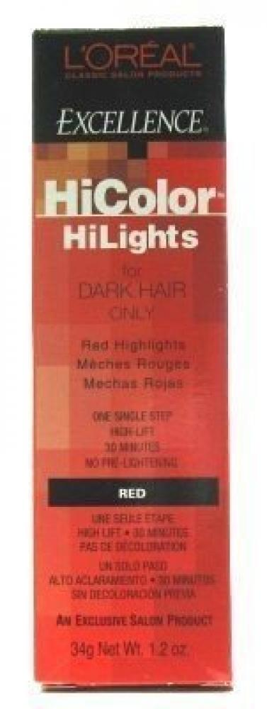 Loreal Excel Hicolor Highlights Red 34g