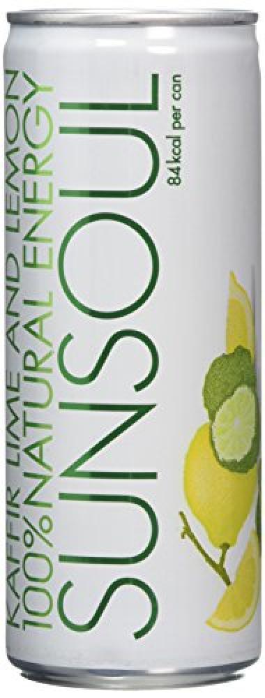 Sunsoul Drinks Sparkling Kaffir Lime and Lemon Flavoured Energy Drink 250ml