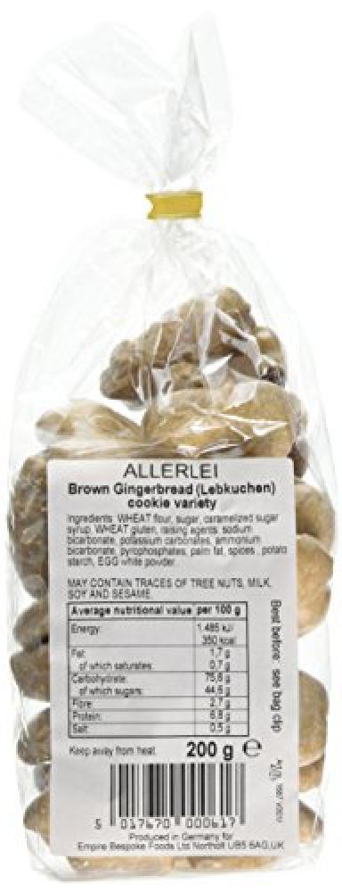 Allerlei Brown Gingerrbread Cookie Variety 200g