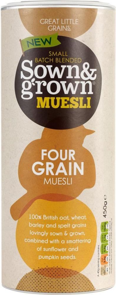 FURTHER REDUCTION  Sown and Grown Four Grain Muesli 450g