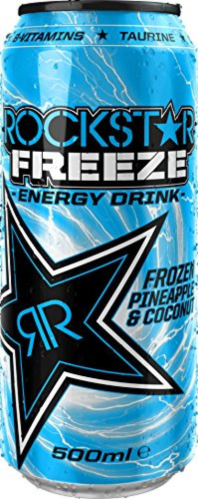 Rockstar Freeze Pineapple and Coconut Energy Drink 500ml