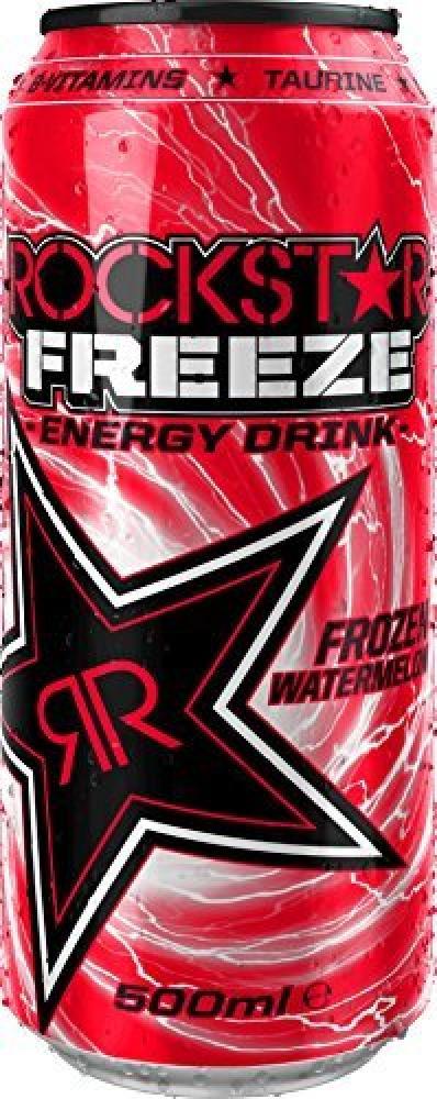 Rockstar Freeze Watermelon Carbonated Energy Drink 500ml