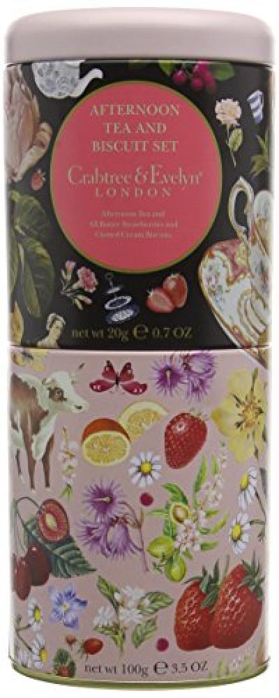 Crabtree and Evelyn Afternoon Tea and Strawberry and Clotted Cream Biscuits 100g