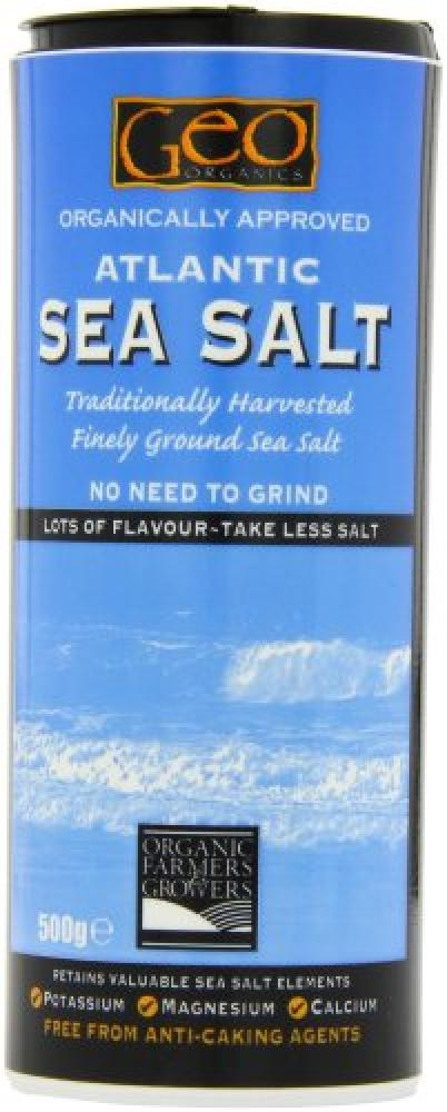 Geo Organics Atlantic Fine Ground Sea Salt 500 g