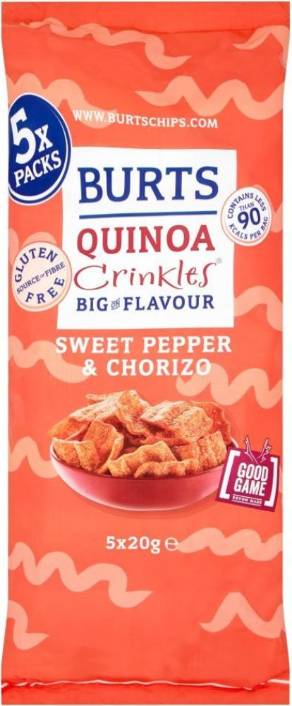 Burts Quinoa Crinkles Sweet Pepper and Chorizo 20g x 5