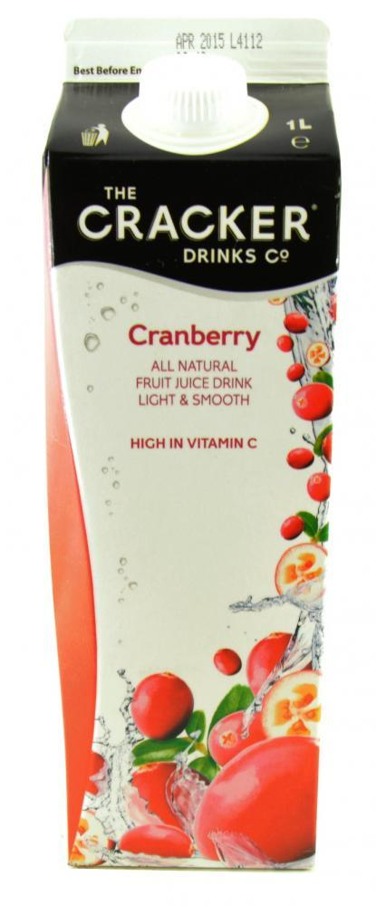 The Cracker Drinks Company Cranberry 1 Litre