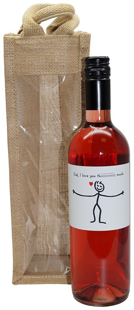 Ukgiftbox Dad I love you this much Rose Wine Gift 750ml