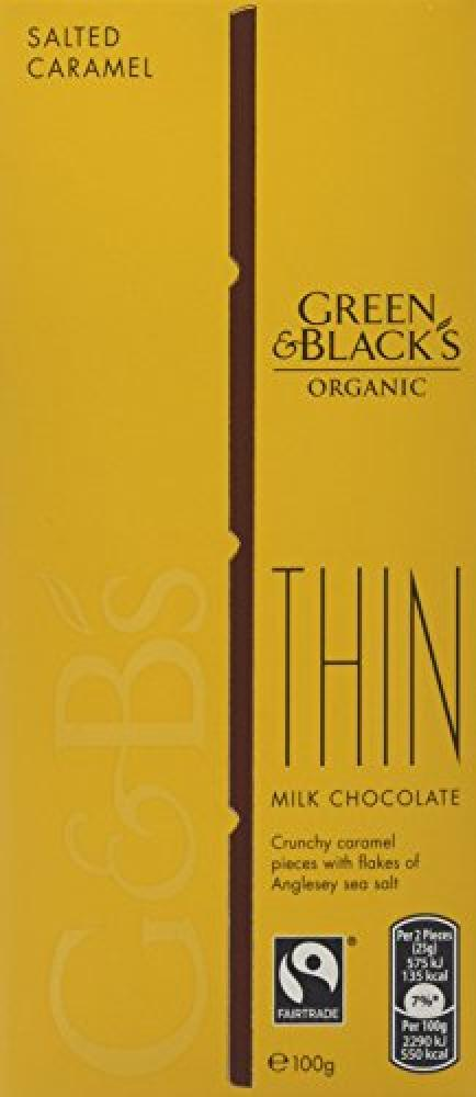 Green and Blacks Organic Salted Caramel Chocolate Thin 100 g