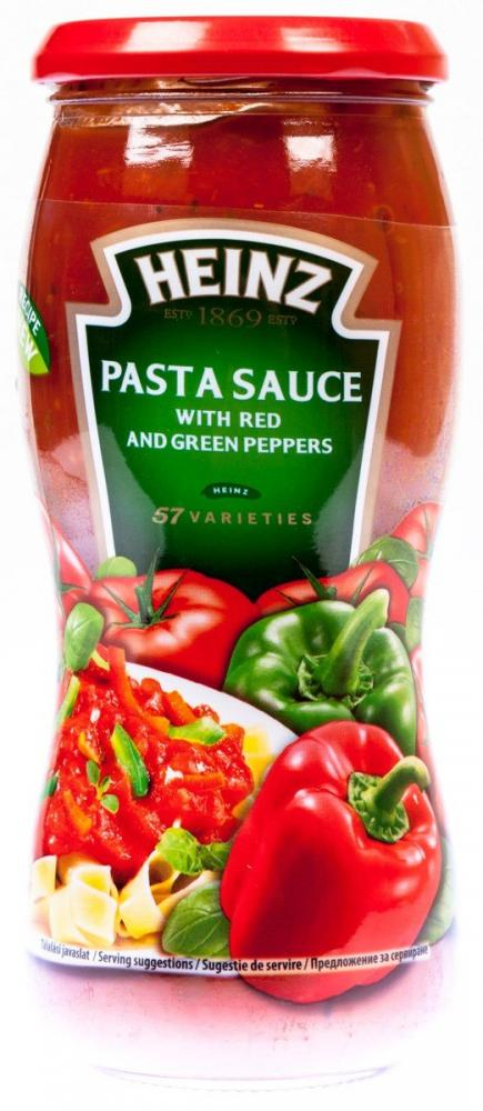 Heinz Pasta Sauce with Red and Green Peppers 500g