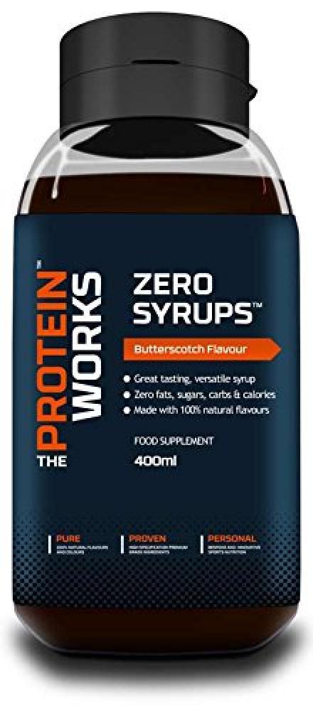 The Protein Works Zero Syrups Zero Calorie Zero Sugar Zero Fat Syrups Butterscotch Ripple - 400 ml