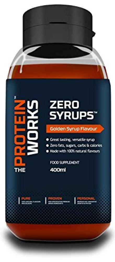 The Protein Works Zero Syrups Zero Calorie Zero Sugar Zero Fat Syrups Golden Syrup - 400 ml