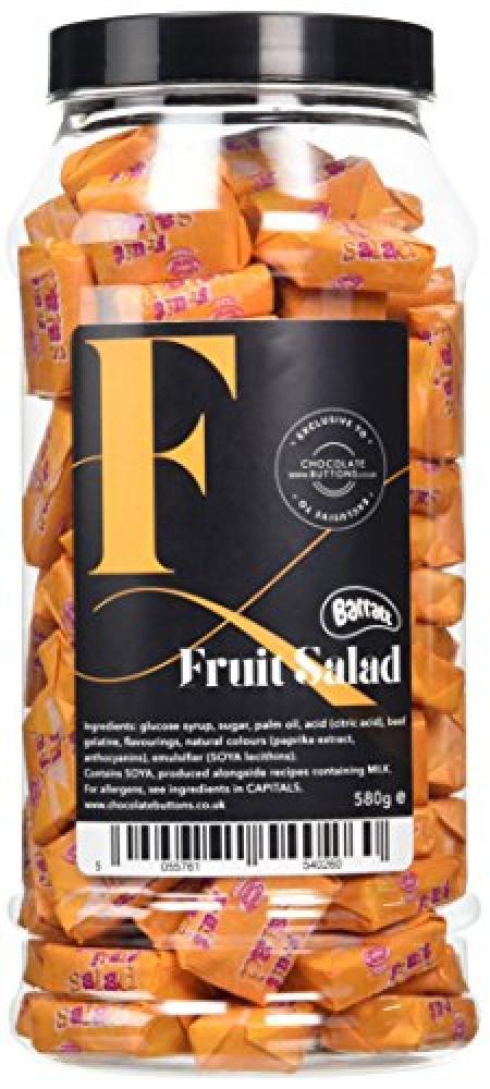 A-Z Sweetshop Retro Sweet Fruit Salad Chews Gift Jar 580g
