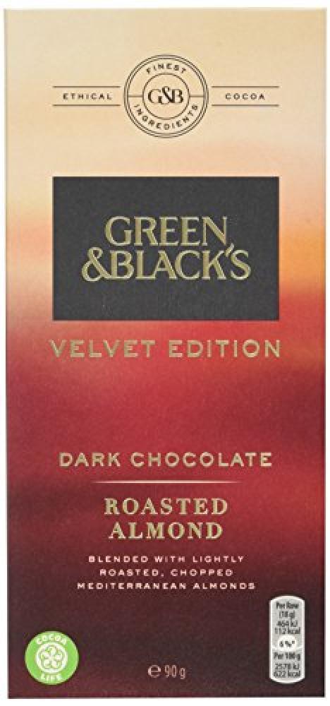 Green and Blacks Dark Almonds Chocolate Bar 90g
