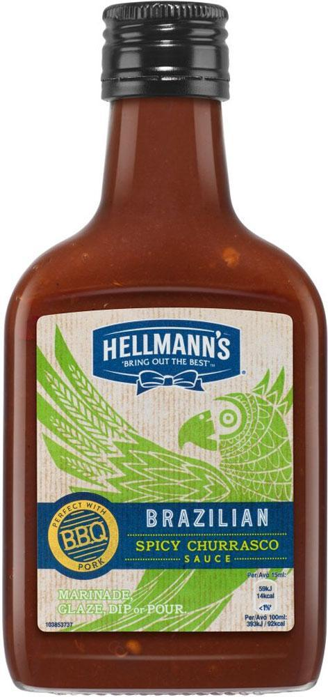 Hellmanns Brazilian Spicy Churrasco Sauce 200ml