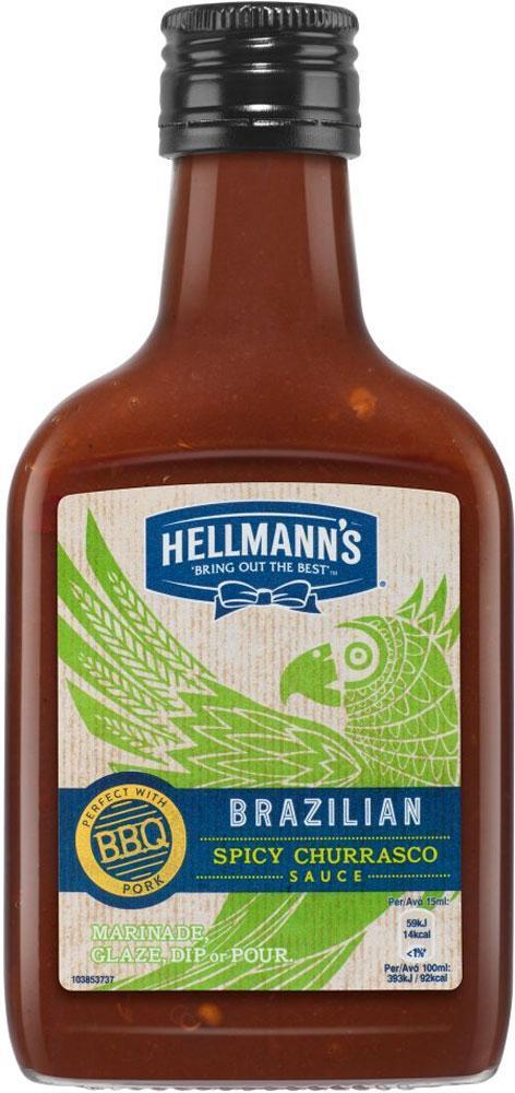Hellmanns Brazilian Spicy Churrasco Sauce 200ml
