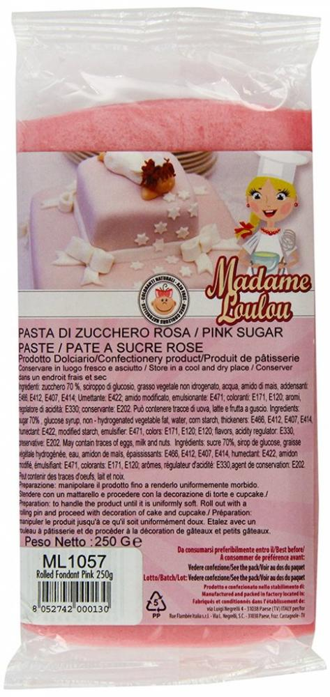 FURTHER REDUCTION  Madame Lou Lou Pink Rolled Fondant 250g