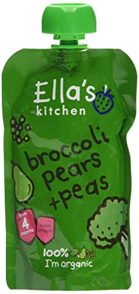 Ellas Kitchen Stage 1 From 4 Months Organic Broccoli Pear and Peas 120 g