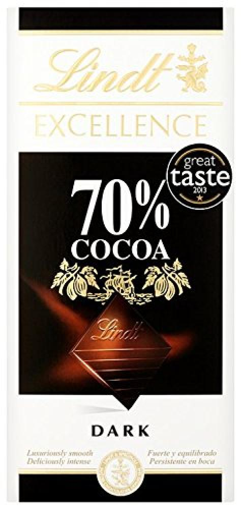 Lindt Excellence 70 Cocoa Dark Chocolate Bar 100 g