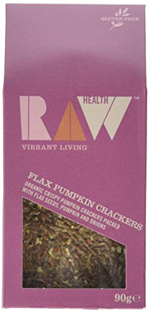Raw Health Organic Flax Pumpkin Crackers 90 g
