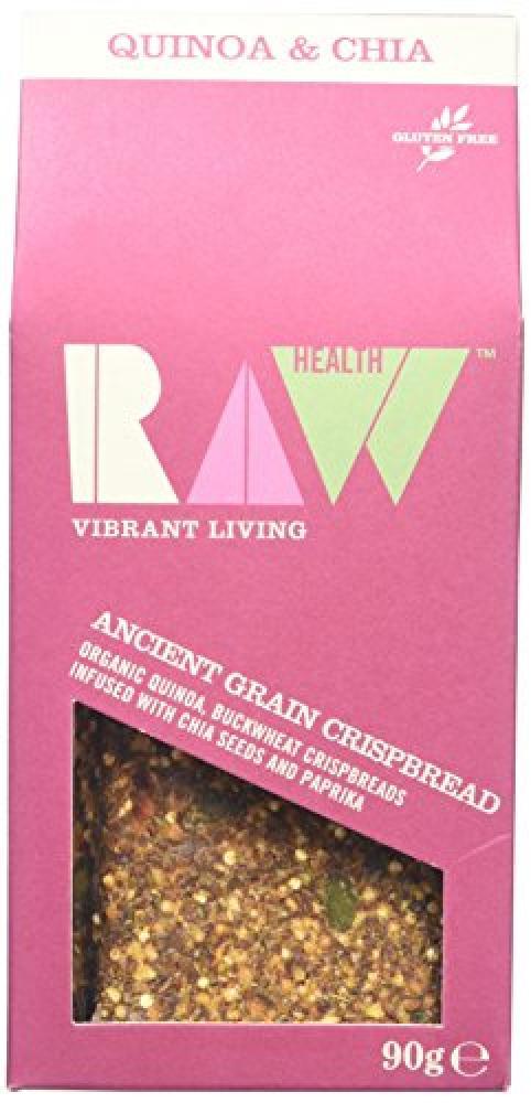 Raw Health Organic Quinoa Buckwheat Paprika And Chia Crispbread 90g