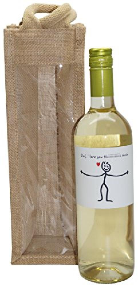 Ukgiftbox Best Dad in the World White Wine Gift Bag