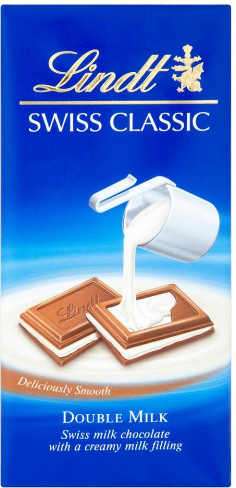 Lindt Swiss Classics Double Milk Chocolate 100g