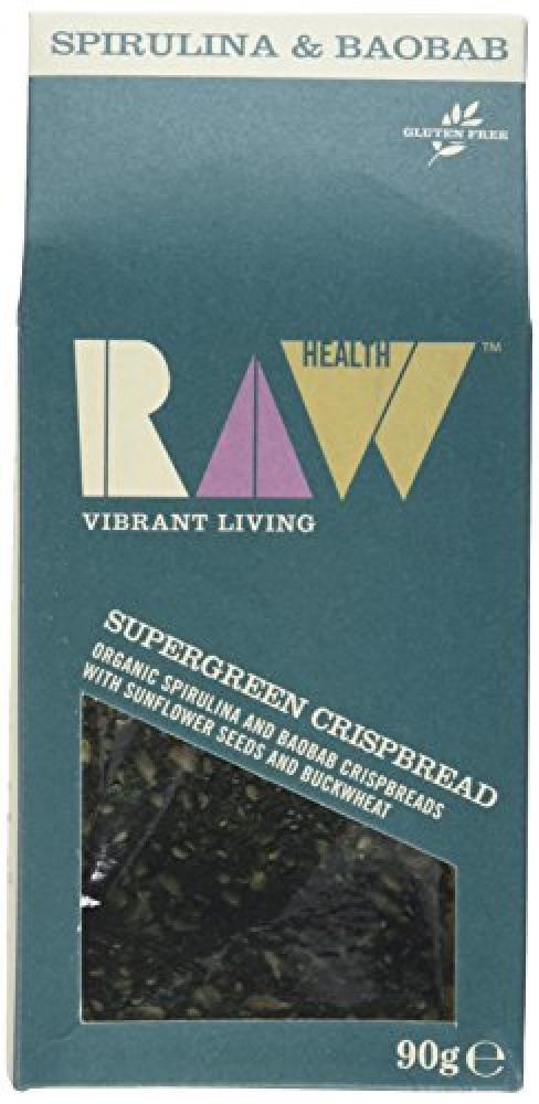 Raw Health Supergreen Spirulina and Baobab Crispbread 90g