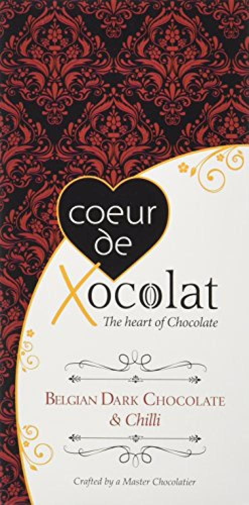 Coeur de Xocolat Dark Chocolate Bar with Chilli Min 90 g