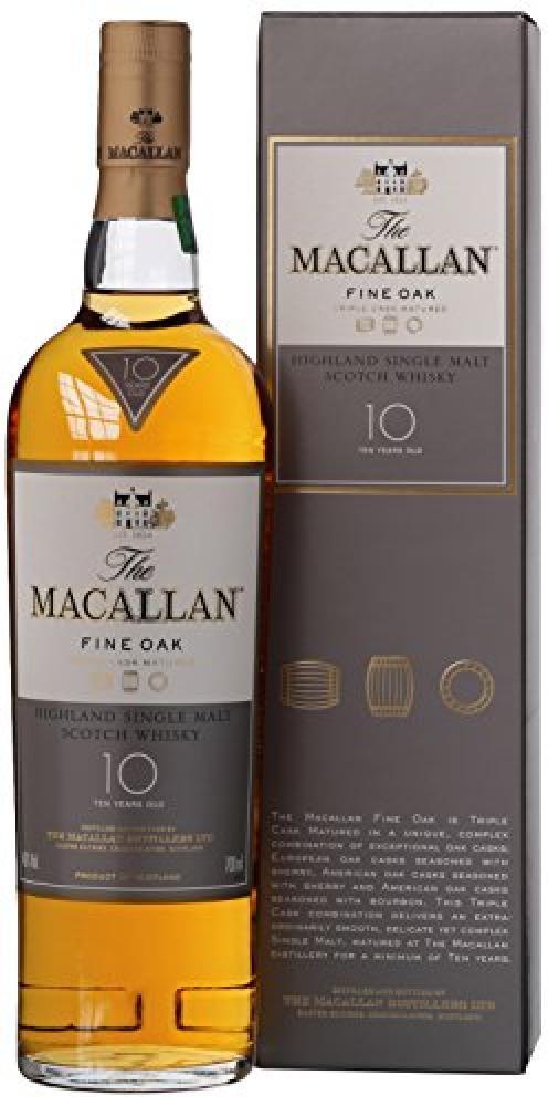 Macallan 10 Year Old Fine Oak Highland Single Malt Scotch Whisky 700ml