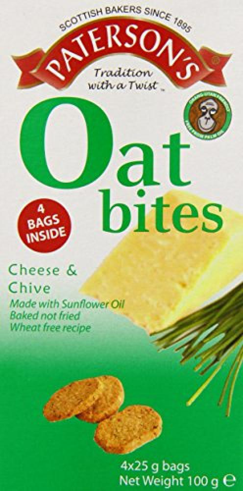 Patersons Oat Bites Cheese and Chive 25 g 4x25g
