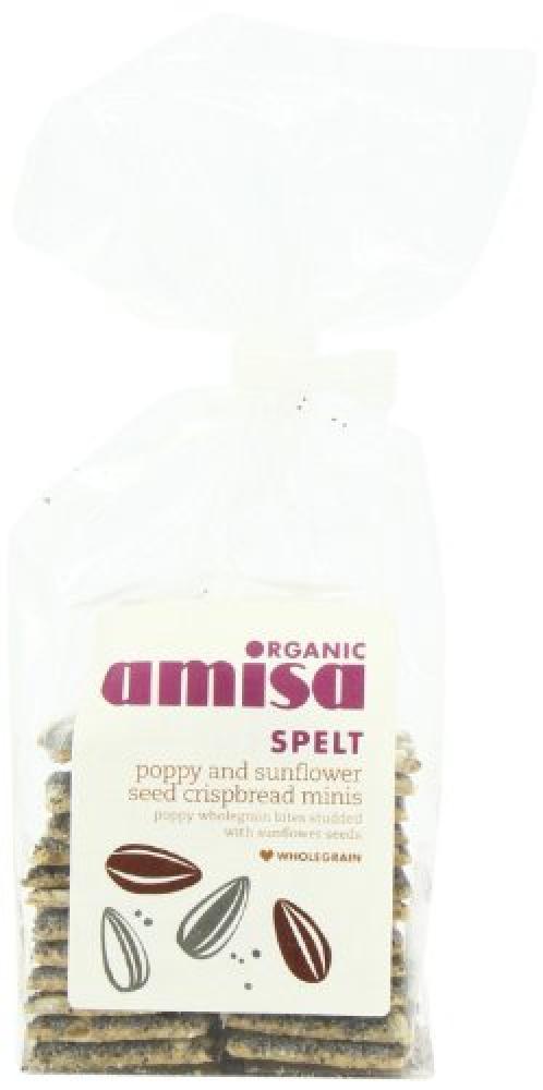 Amisa Organic Crispbread Spelt Minis Poppyseed Sunflower 150 g