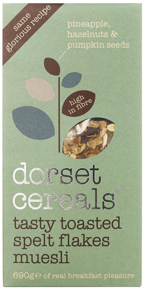 Dorset Cereals Tasty Toasted Spelt Flakes Muesli 690g
