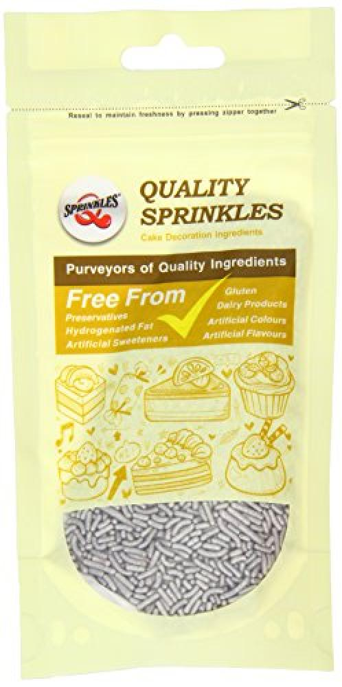 Quality Sprinkles Silver Sugar Strands 65 g