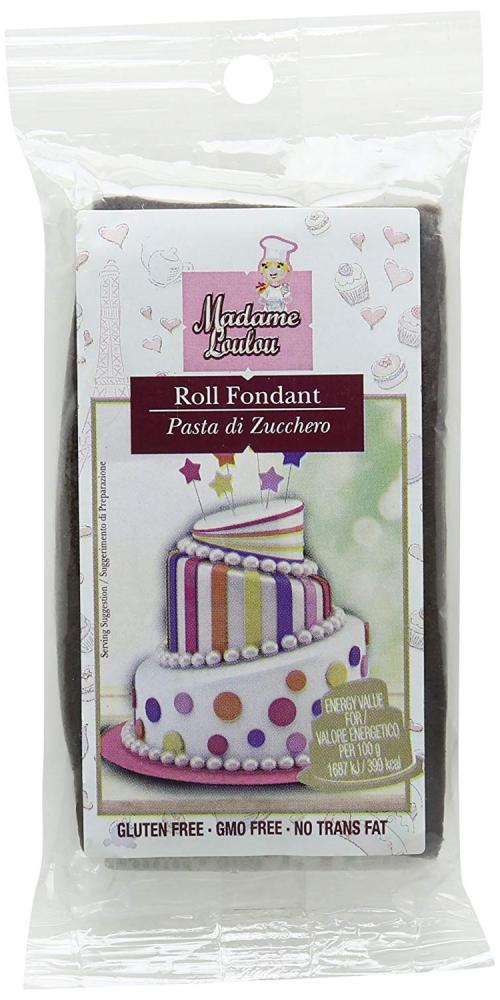Madame Lou Lou Brown Rolled Fondant 100g