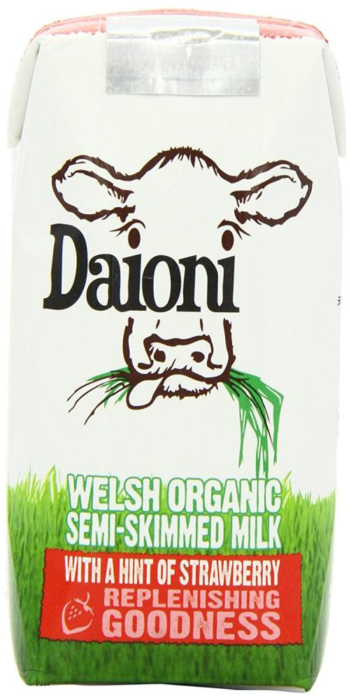Daioni Organic Strawberry Flavour Milk Drink 200 ml